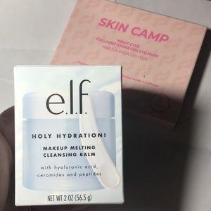 Elf makeup melt balm and skincamp eye msk